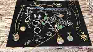 Group Sterling and Gemstone Jewelry