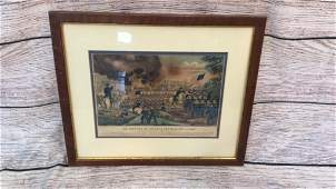 Currier and Ives Lithograph Print