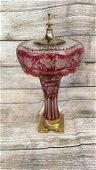 Bohemian Cut Crystal Lamp