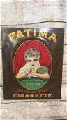Fatima Cigarette Tin Advertising Sign
