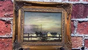 Diminutive Oil on canvas Signed Benjamin