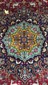 Vintage Tabriz Hunt Carpet