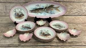 Hand Painted Porcelain Fish Set