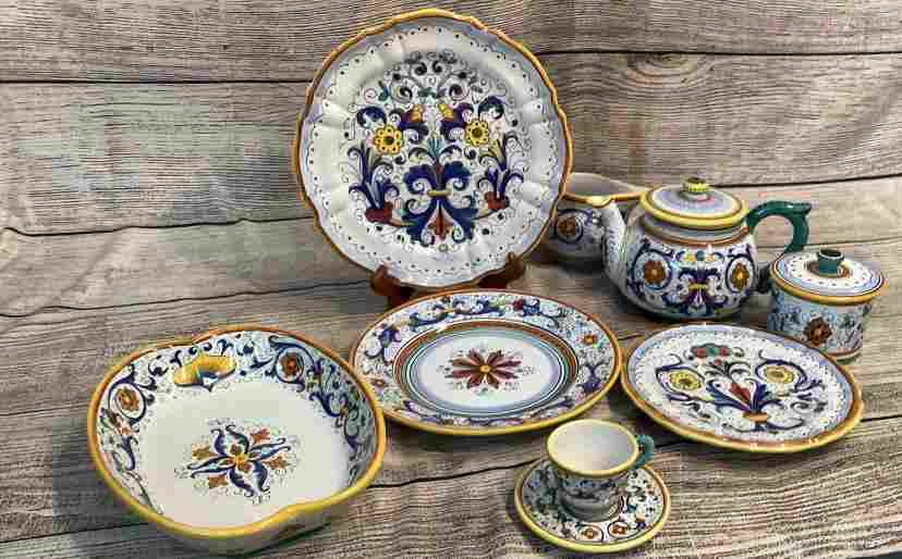 Approximately 80 Pieces Italian Ceramic