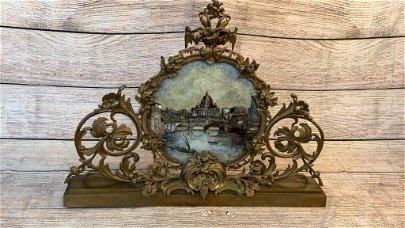Florentine Reverse Painting Ponte Vecchio