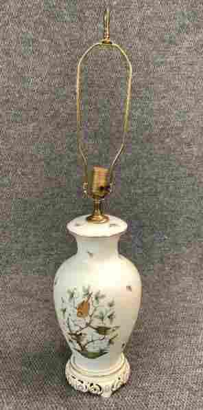 Herend Rothschild Bird Porcelain Table Lamp