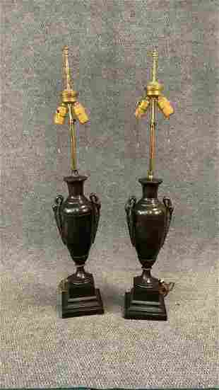 Pair Art Deco Style Table Lamps