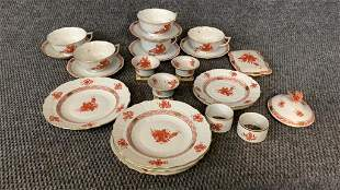 23 Pieces Herend Chinese Bouquet