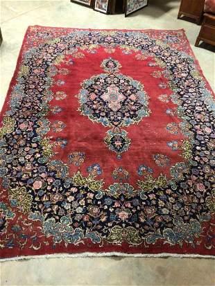 Vintage Persian Kirman Style Area Rug