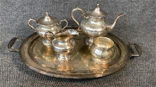Combined Sterling Tea Service