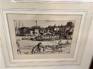 Etching Black Lion Ware, James McNeill Whistler