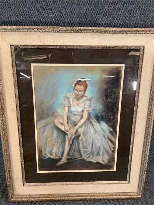 Everett Shinn, Pastel on Paper
