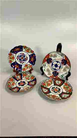 4 Japanese Imari Plates