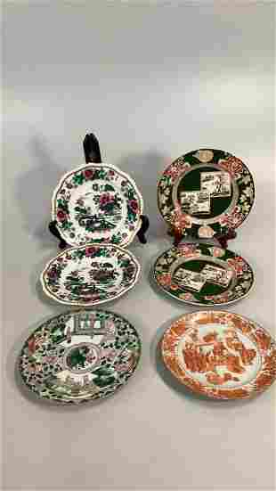 Ironstone and Asian Porcelain Plates