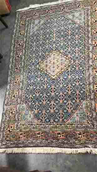 Hand Knotted Qum Style Area Rug
