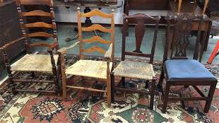 4 Assorted Antique Chairs