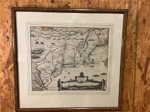 Vintage Framed Map