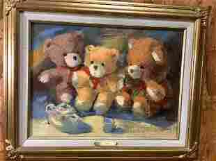 2 Linda Cheek Oil Paintings