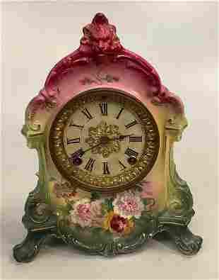 Royal Bonn Painted Shelf Clock