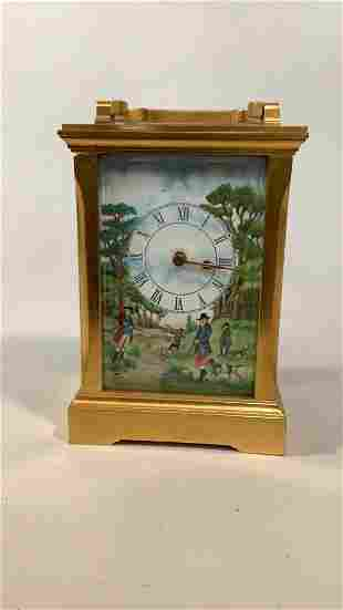 Petite Brass Carriage Clock by Deacon