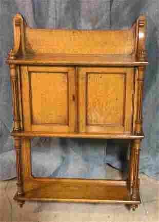 English Oak Hanging Cupboard W Shelf