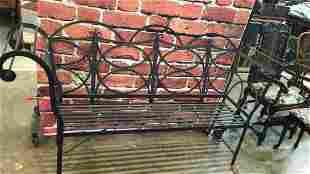 Monumental Iron Garden Bench