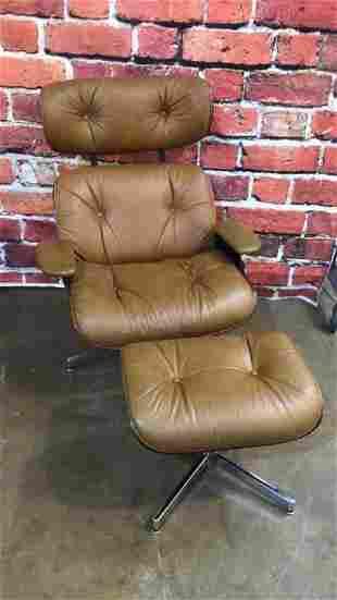 Mid Century Eames Style Chair W Ottoman