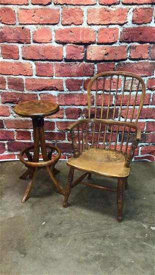 Elm wood Captains Chair & Bar Stool