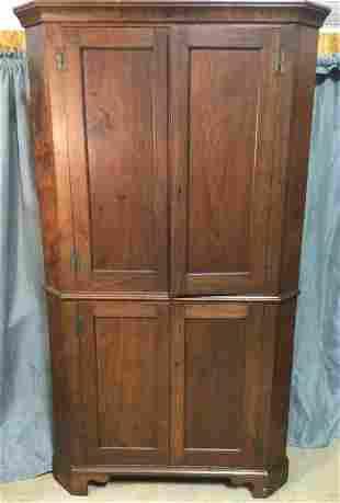 Chippendale Walnut Corner Cupboard