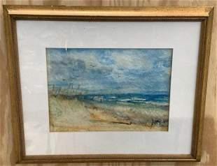 Watercolor of Beach Scene