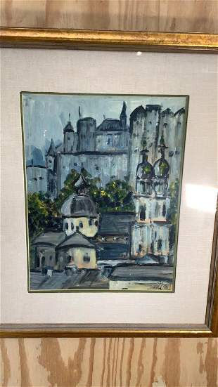 Watercolor of City Scape