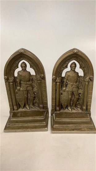 Pair Bronze Bookends, 1931 Convention