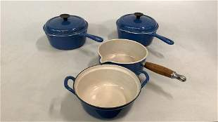 4 LeCreuset French Cast Iron Cookware