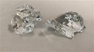 2 Steuben Crystal Animals