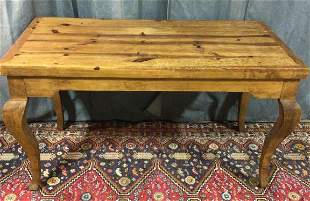 French Style Table Made From Reclaimed Pine