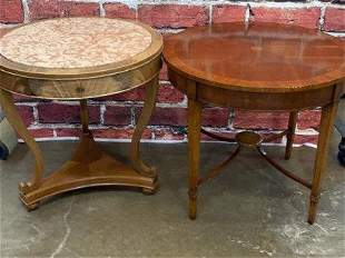2 Vintage Inlaid Occasional Tables