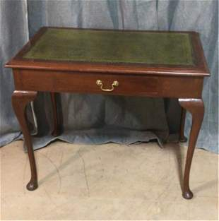 Queen Anne Style Mahogany Writing Desk