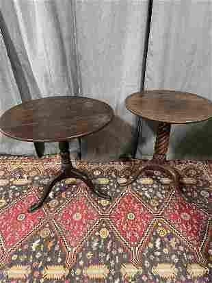 2 Early Oak Tea Tables