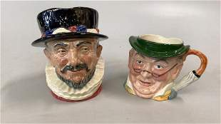 Royal Doulton and Staffordshire Character Jugs