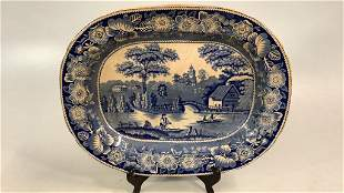 Blue and White Ironstone Platter