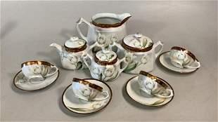 8 Piece German Porcelain Tea Service