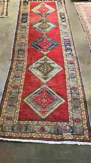 Vintage Hand Knotted Caucasian Runner