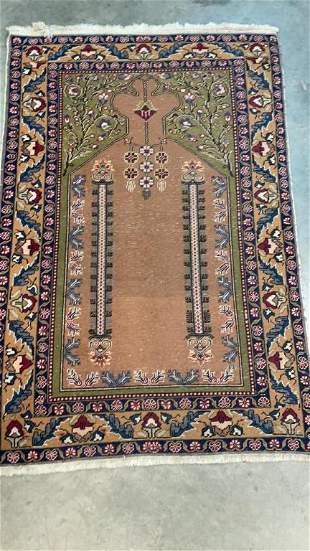 Vintage Hand Woven Prayer Rug