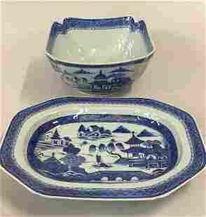 2 Pieces Canton Tradeware China