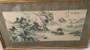 Asian Watercolor on Silk
