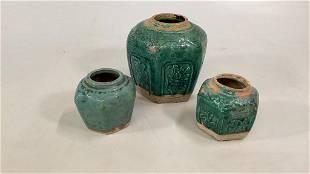 3 Asian Jars
