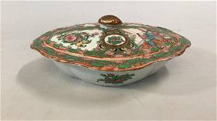 Famille Porcelain Covered Dish