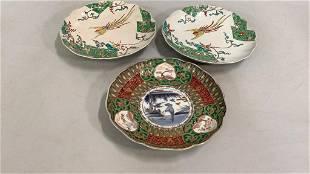 3 Asian Porcelain Plates