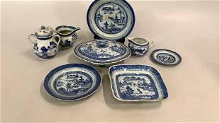 8 Pieces Canton Porcelain