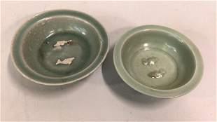 Chinese Celedon Bowls